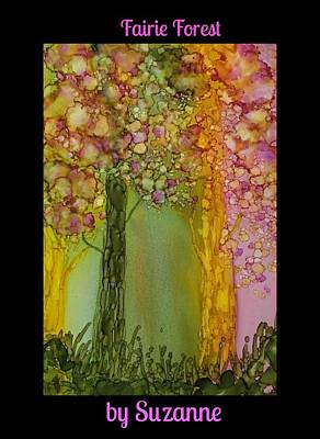 Painting - Fairie Forest by Suzanne Canner