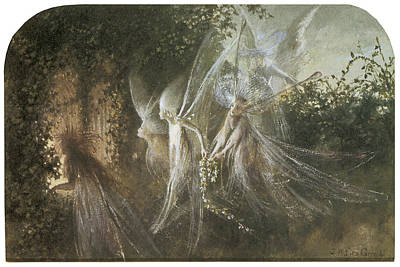 Fairies Looking Through A Gothic Arch Art Print by John Anster Fitzgerald