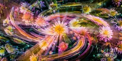 Photograph - Fairies Stir The Flowers At Night by Michael Arend