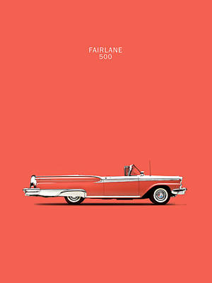 Ford Fairlane Photograph - Fairlane 500 by Mark Rogan