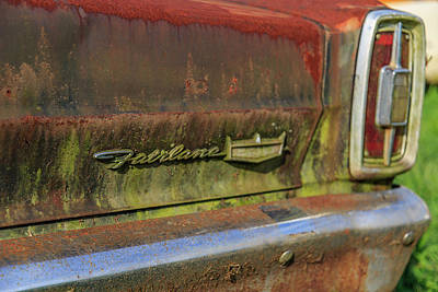 Photograph - Fairlane Emblem by Doug Camara