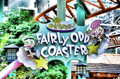 Rollercoaster Painting - Fairly Odd Coaster by Lanjee Chee
