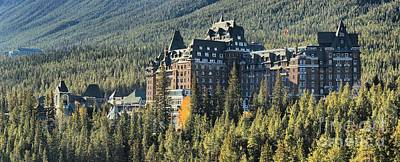 Photograph - Fairmont Banff Springs Hotel by Adam Jewell
