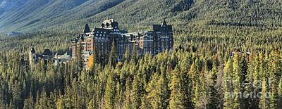 Photograph - Fairmont Banff Springs Panorama by Adam Jewell