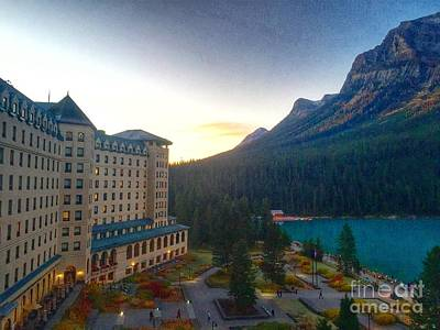 Photograph - Fairmont Chateau Lake Louise Morning by Susan Garren