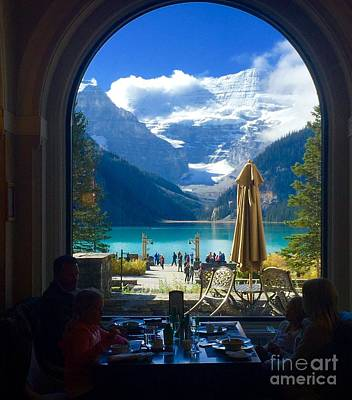 Photograph - Fairmont Chateau Lake Louise View  by Susan Garren