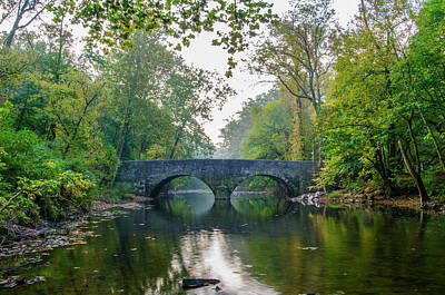 Wissahickon Photograph - Fairmount Park - Bells Mill Road Bridge by Bill Cannon