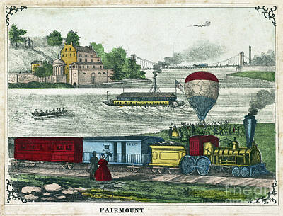 Drawing - Fairmount Water Works, C1858.  by Granger