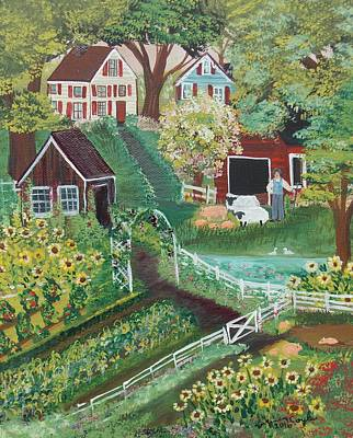 Painting - Fairview Farm by Virginia Coyle