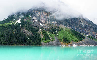 Fairview Mountain Above Lake Louise Art Print by Mike Reid