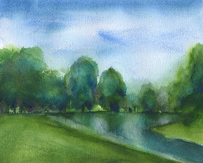 Painting - Fairway At Okatie Creek Golf Course by Frank Bright