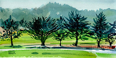 Painting - Fairway Junipers by Donald Maier