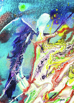 Painting - Fairy Art - Colorful Abstract Fantasy Painting by Modern Art Prints