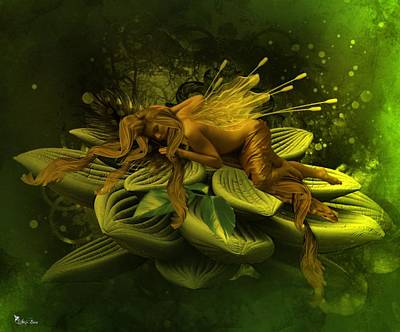 Digital Art - Fairy Asleep by Ali Oppy