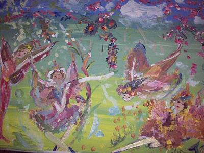 Art Print featuring the painting Fairy Ballet by Judith Desrosiers