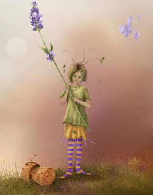 Fairy Bella Lavender Art Print