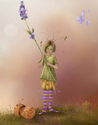 Painting - Fairy Bella Lavender by Joe Gilronan