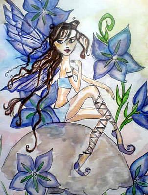 Painting - Fairy Blue by Aingeal Rose