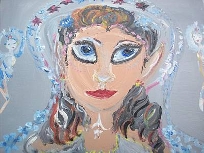 Art Print featuring the painting Fairy Bride by Judith Desrosiers