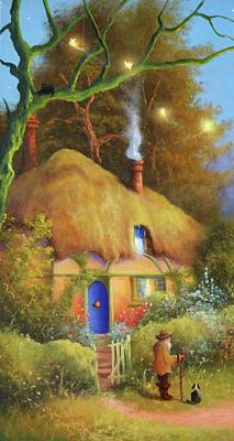 Fairy Cottage Art Print
