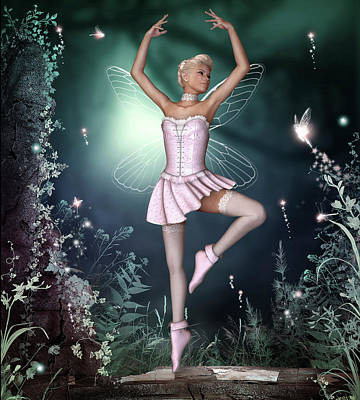 Sylph Digital Art - Fairy Dance by David Griffith