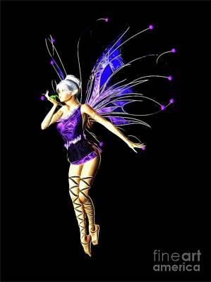 Folk Art Digital Art - Fairy, Digital Art By Mb by Mary Bassett