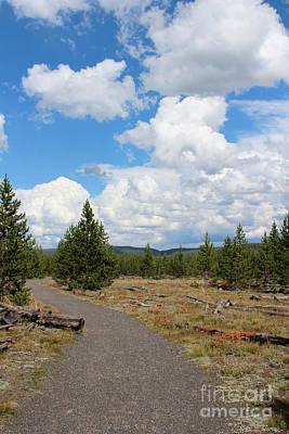 Yellowstone Photograph - Fairy Falls Mountains II by Kathleen Garman