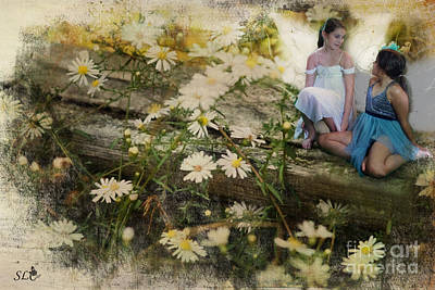 Photograph - Fairy Friends Talking by Sandra Clark