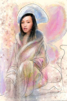 Digital Art - fairy from China by Fabrizio Uffreduzzi