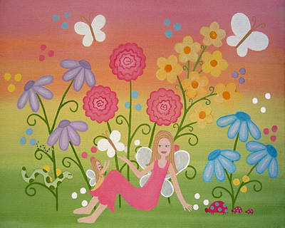 Daughter Painting - Fairy Garden by Samantha Shirley