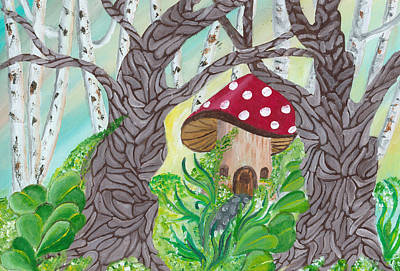 Fairy Home Original by Gail Peltomaa