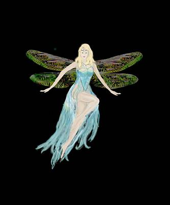 Digital Art - Fairy In The Blue Dress by Tom Conway