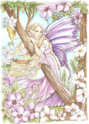Painting - Fairy In The Flowers by Morgan Fitzsimons