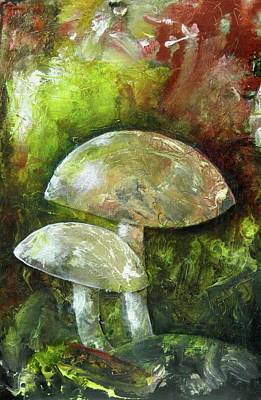 Fairy Kingdom Toadstool Art Print