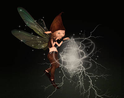 Mixed Media - Fairy Magic by Solomon Barroa