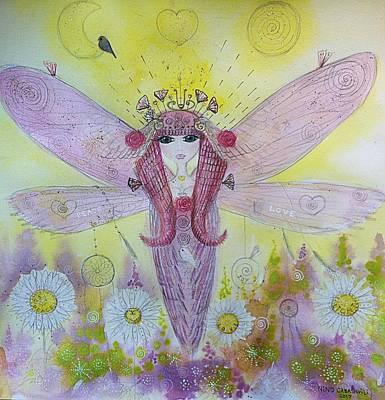 Painting - Fairy Messenger  by Nino Gabashvili