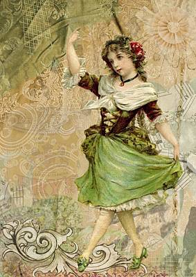 Decoupage Mixed Media - Fairy Of Childhood by Zin Shades