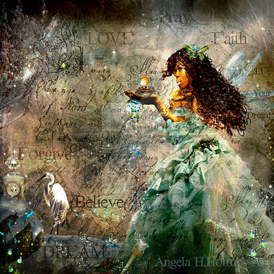 Digital Art - Fairy Of Dreams And Hope by Angela Holmes