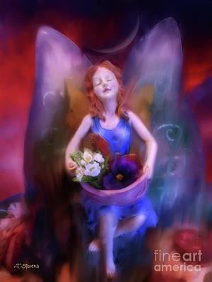 Fairy Of The Garden Art Print by Joseph J Stevens