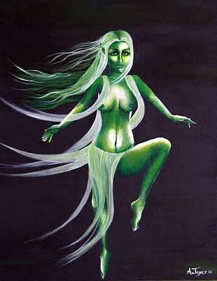 Fairy Of The Green Glens Art Print by Aoife  Joyce
