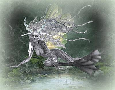 Digital Art - Fairy Of The Sea by Ali Oppy