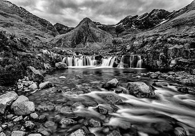 Photograph - Fairy Pools In Mono by John Frid