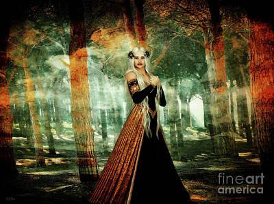 Autumn Woods Art Print by KaFra Art