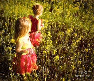 Vineyard Digital Art - Fairy Princesses by Jacque The Muse Photography