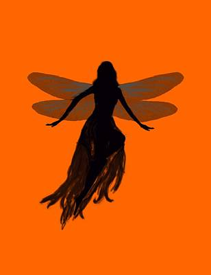 Painting - Fairy Silhouette by Tom Conway