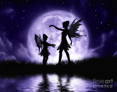 Faery Digital Art - Fairy Sisters by Julie Fain