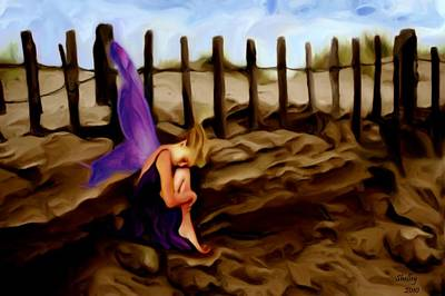 Painting - Fairy Sleeping On The Dunes by Shelley Bain