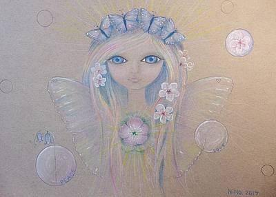 Drawing - Fairy Song  by Nino Gabashvili