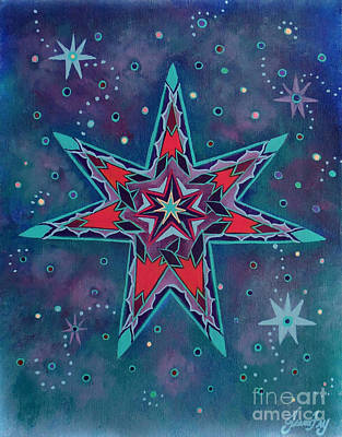 Painting - Fairy Star A Seven Pointed Star by Jean Fry