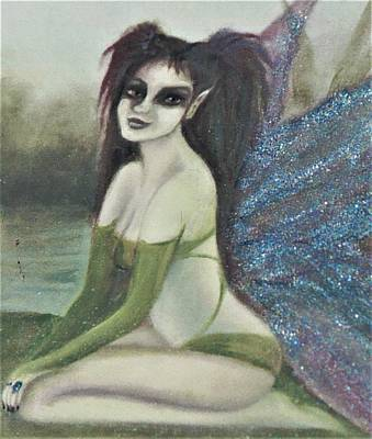 Painting - Fairy Self Portrait by Suzn Art Memorial